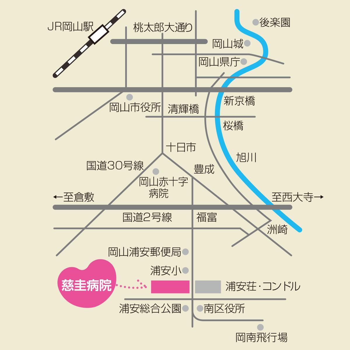 慈圭病院 地図